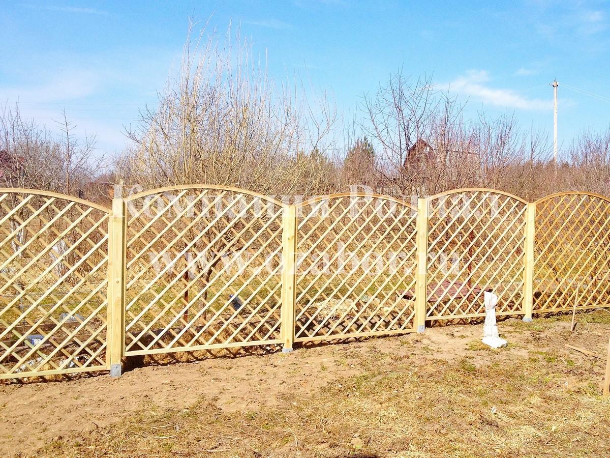 Как сделать деревянный забор - штакетник своими руками 93