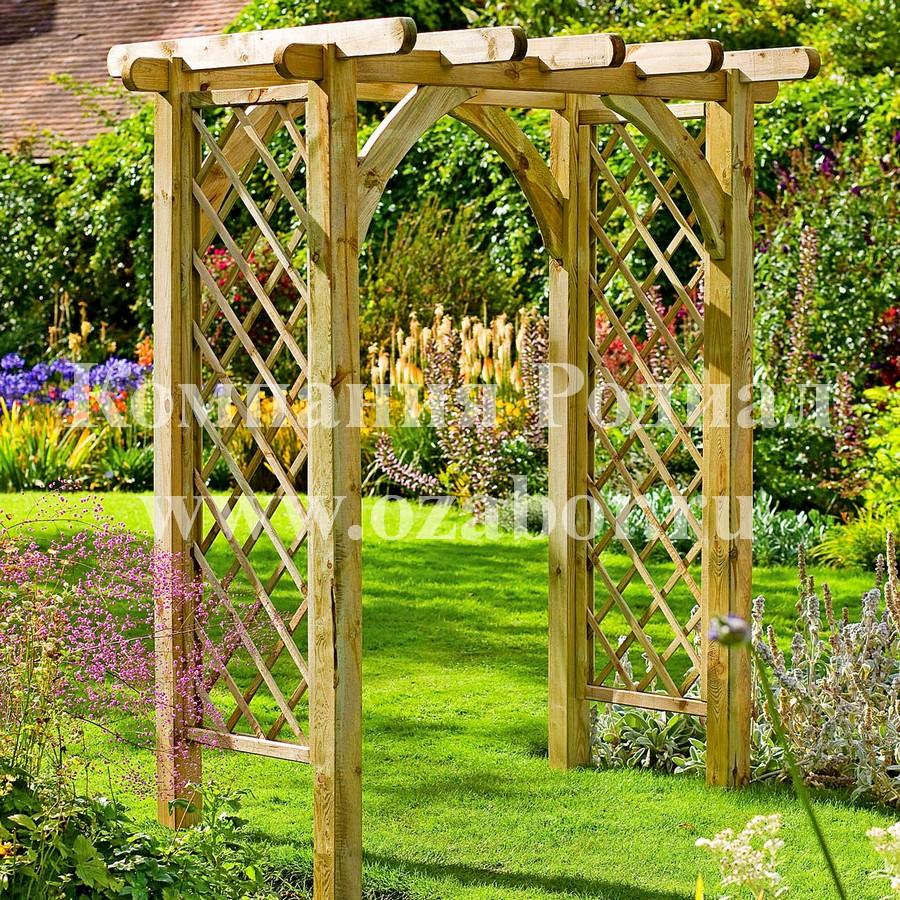 Сделать арку садовую своими руками из дерева 82