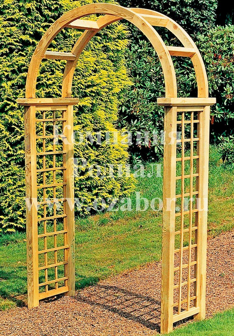 Деревянная арка своими руками 79